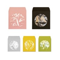 Asil Zarf CD Zarfı 12.5 x 12.5 renkli pencereli 90 gr 25'li Paket