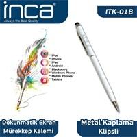 Inca Inca Touchscreen Stylus &Amp; Ink Pen Dokunmatik Tablet Kalemi Beyaz