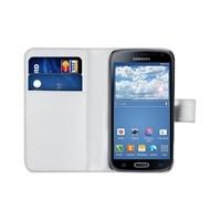 Microsonic Cüzdanlı Deri Samsung Galaxy K Zoom (S5 Zoom) Kılıf Beyaz