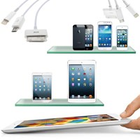 Usb Şarj ve Data Kablosu 4in1 (iPhone5, iPhone4, Samsung, iPad, P1000, Micro, iPad Mini)
