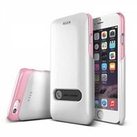 Verus iPhone 6 4.7 inc Slim Hard Slide Pearl White+Baby Pink Cap