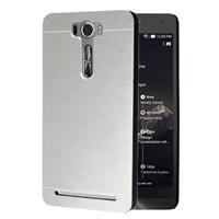 Microsonic Asus Zenfone 2 Laser 5.0 Inch Kılıf Hybrid Metal Gümüş 33123955