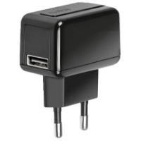 Seyahat Şarj Cihazı 1000mAh USB Siyah