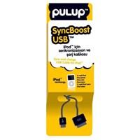 PULUP SyncBoost USB iPod iPhone ve iPad için Uzayabilen Senkronizasyon ve Şarj Kablosu Siyah