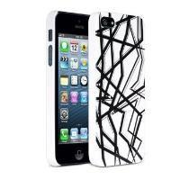 DLA235W iPhone 5 Siyah Beyaz Koruyucu Kılıf
