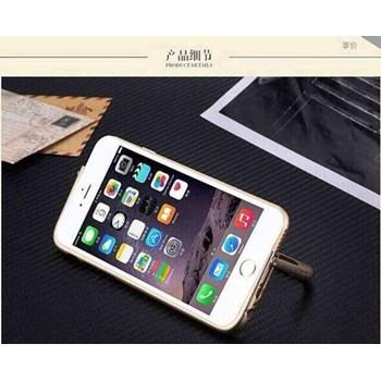 iPhone 6 4.7'' Kılıf Standlı Metal Bumper Çerçeve Altın
