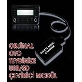 Ototarz Peugeot 407Sw (2005 Sonrası) Orijinal Müzik Çaları ( Usb,Sd )Li Çalara Çevirici Modül