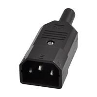 3 Pin Power Erkek Kablo Monte Tipi Soket