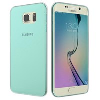 Microsonic Transparent Soft Samsung Galaxy S6 Edge Kılıf Mavi