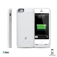 Ttec Plus Caffeine Şarj Kılıfı iPhone 5 Beyaz