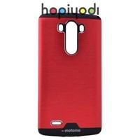 LG G3 Kılıf Motomo Hard Case Arka Kapak Kırmızı