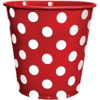 Roll-Up Galvaniz Puantiyeli Küçük Kova Kırmızı Tm-Dgr-0282