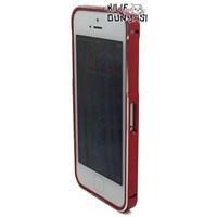 İphone 5s Kılıf Mıknatıslı Metal Bumper Çerçeve Kırmızı Koyu