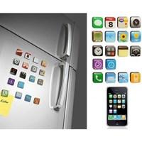 İphone Teması Buzdolabı Magnetleri (18 Parça) 26389692