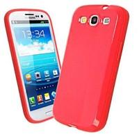 Microsonic Glossy Soft Kılıf Samsung Galaxy S3 I9300 Kırmızı