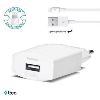 Ttec - Compact İphone Lightning Seyahat Şarj Cihazı - 1000Ma - 2Scc2001