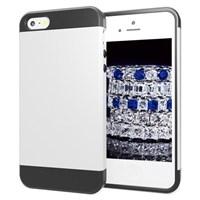 Microsonic Slim Fit Dual Layer Armor Iphone 5s Kılıf Beyaz