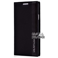 Samsung Galaxy Alpha Kılıf Magnum Gizli Mıknatıslı Siyah