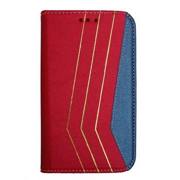 Color Case Sony Xperia Z3 Gizli Mıknatıslı Kılıf Kırmızı MGSBCDEGPT9