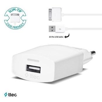 Ttec - İphone 4/4S Compact Seyahat Şarj Cihazı - 1000Ma - 2Scc751