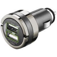 CELLULAR LINE Dual USB Araç Şarj Girişi 4A Siyah