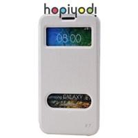 Samsung Galaxy E7 Kılıf Ekol Mıknatıslı Standlı Beyaz