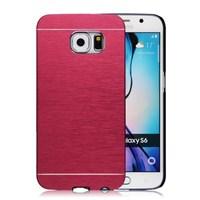 Microsonic Samsung Galaxy S6 Kılıf Hybrid Metal Kırmızı