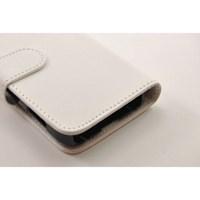 Samsung Galaxy Ace Kılıf Ekonomik Cüzdan Beyaz