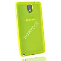 Samsung Galaxy Note 3 Kılıf 0.2 mm Ultra İnce Silikon Kapak Sarı