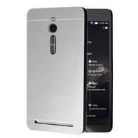 Microsonic Asus Zenfone 2 5.5'' Kılıf Hybrid Metal Gümüş