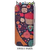 Samsung Galaxy S6 Kılıf Pupa Desenli Gizli Mıknatıslı Sweet Paris