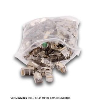 VCOM NM025 100LÜ RJ-45 METAL CAT5 KONNEKTÖR