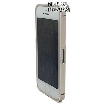 İphone 5 Kılıf Mıknatıslı Metal Bumper Çerçeve Altın