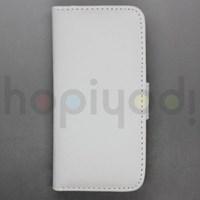iPhone 5 Kılıf Slim Sola Açılan Cüzdan Beyaz