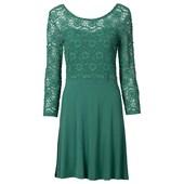 Rainbow Dantelli Penye Elbise Yeşil 31434696