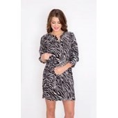 K&D London Zebra Desenli Fakir Kol Elbise 24963844