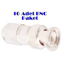 S-Link 10 BNC Konnektör 10 Adetlik Paket