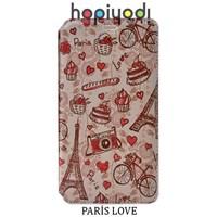 Sony Xperia C4 Kılıf Paris Love Desenli Gizli Mıknatıslı Standlı