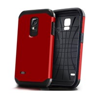 Microsonic Slim Fit Dual Layer Armor Samsung Galaxy S5 Mini Kılıf Kırmızı