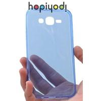 Samsung Galaxy J5 Kılıf 0.2 mm Silikon Şeffaf Kapak Mavi