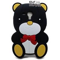 Samsung Galaxy S3 Mini Kılıf 3d Ayıcık Silikon Siyah