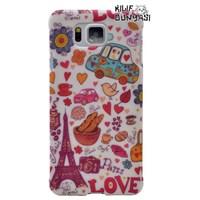 Samsung Galaxy Alpha Kılıf Love Paris Desenli Rubber Kapak