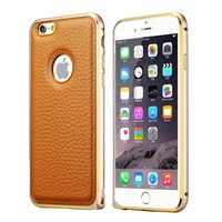 Microsonic Derili Metal Delüx iPhone 6 Plus (5.5) Kılıf Kahverengi