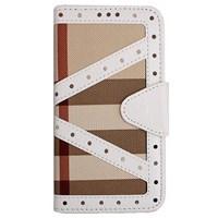 Color Case Galaxy Note 4 Cüzdanlı Ekose Kılıf Beyaz MGSADGKNQUZ