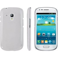 Laxon LC401WHT Buff Leather Textured Hard Case for Galaxy S3 Mini