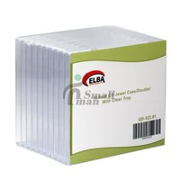 ELBA QD-522.01 2Lİ ŞEFFAF 10.4mm CD Jewel Case