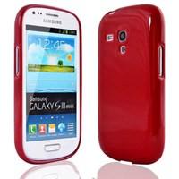 Microsonic Glossy Soft Kılıf Samsung Galaxy S3 Mini I8190 Kırmızı