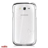 Redlife Galaxy Grand Neo Swarovski Taşlı Papatya Desenli Pc Arka Kapak Gümüş