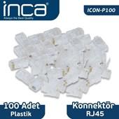 ICON-P100 RJ45 100 ADET PLASTİK KONNEKTÖR