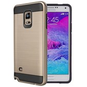 Microsonic Samsung Galaxy Note 4 Kılıf Slim Heavy Duty Gold CS300-SHD-GLX-NOTE4-GLD